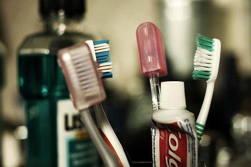 歯ブラシ掃除