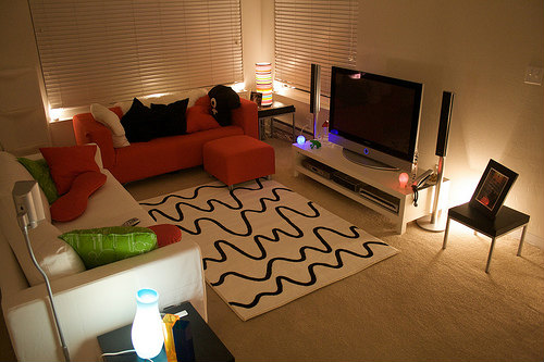 テレビの間接照明
